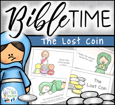 Learn about the parable of The Lost Coin with this Bible faith based emergent reader. Created with preschool, Kindergarten, and First grade in mind, it is packed with sight words and simple sentences so kids can learn about the Bible on their own level! This reader is a perfect addition to go with the other activities and crafts you have planned for your lesson on Jesus.