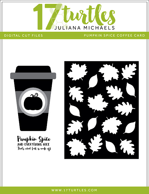 Pumpkin Spice Coffee Card Free Digital Cut File by Juliana Michaels 17turtles