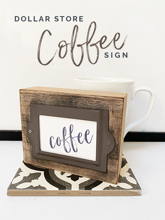 coffee sign pin with overlay