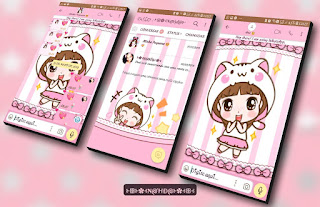 Girl Cute Rosa Theme For YOWhatsApp & Fouad WhatsApp By Nanda