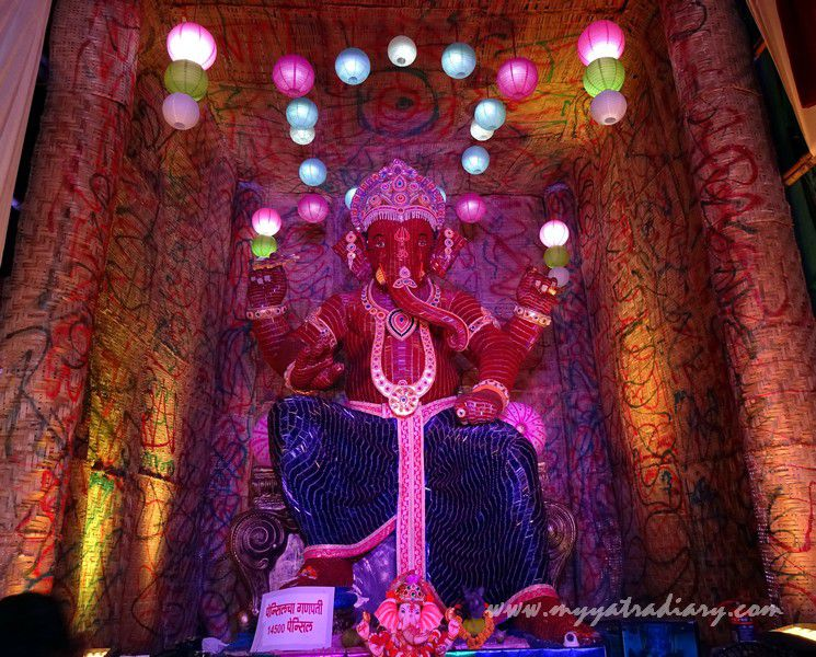 Creative Ganesha made of pencils, Ganesh Chaturthi festival  Mumbai