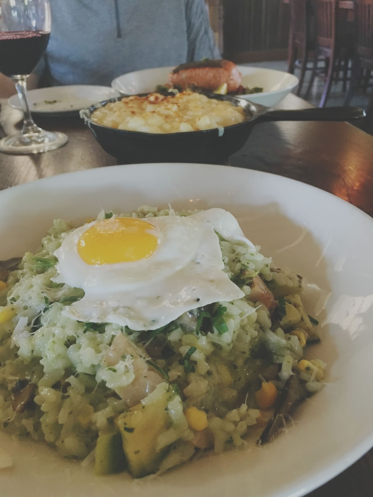 arborio rice at the Farmstead Restaurant at Long Meadow Ranch in Napa, California