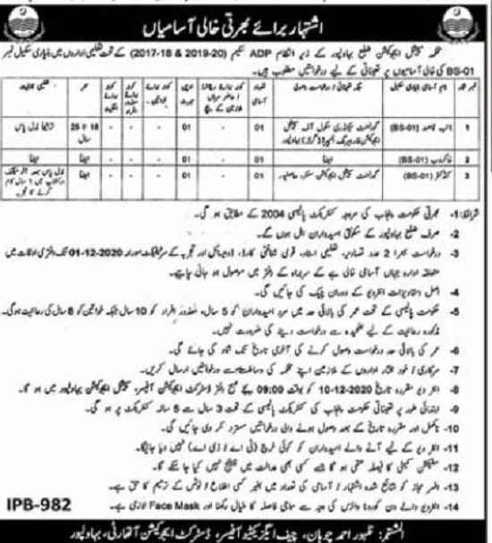 special-education-department-jobs-2020-bahawalpur