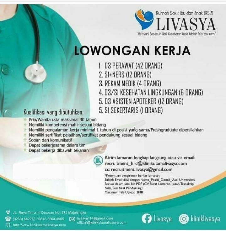 Lowongan Kerja Loker Rsia Livasya Yogyakarta 2019