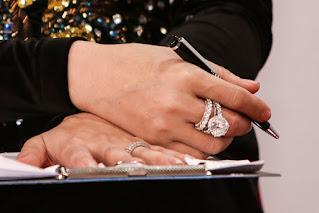 Nhẫn cưới kim cương của Lâm khánh Chi