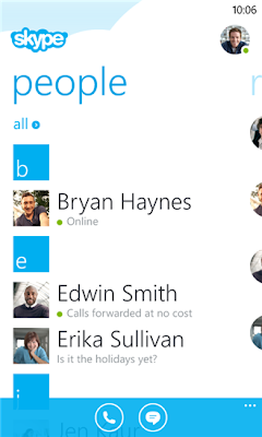 Skype v2.4 preview for Windows Phone 8