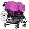 Zoe XL2 Xtra Lightweight Double Stroller, Grey Wheels - London Navy