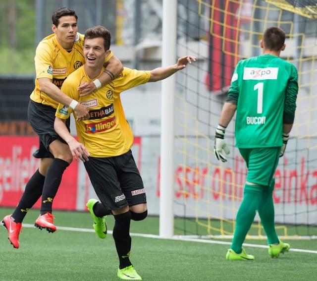 Shkelqim Demhasaj after scored a goal