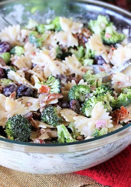Broccoli Pasta Salad with Grapes Image