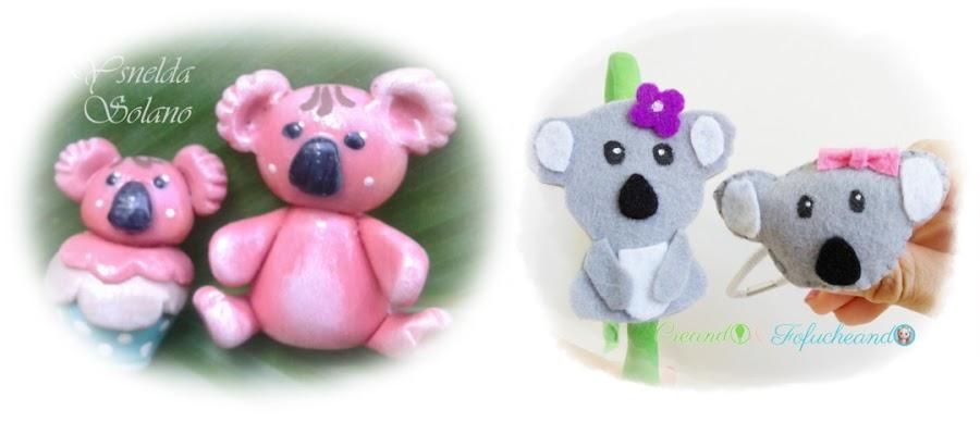 Koala de fieltro