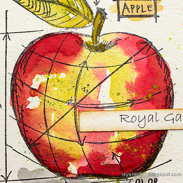 Layers of ink - Watercolor Apples Art Journal Tutorial by Anna-Karin Evaldsson. Royal Gala apple.