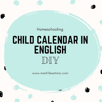 child calendar in english homeschooling