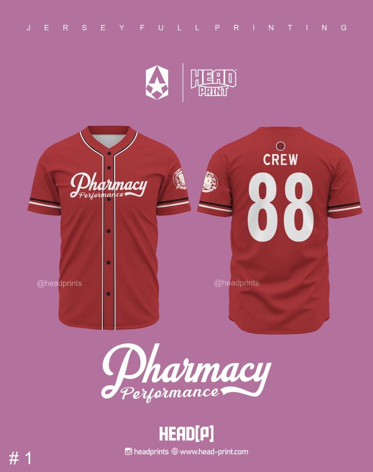 Jersey Baseball Full Printing - Contoh Desain Jersey Baseball - Jersey Baseball Satuan Jogja