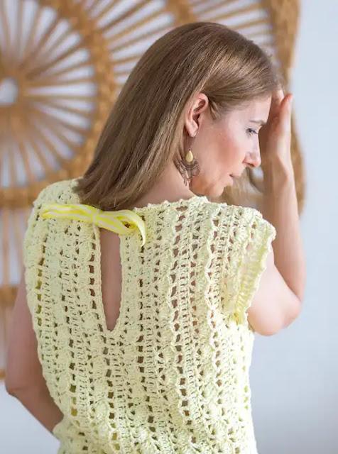 Tutorial Blusa Rayo de Sol a Crochet Paso a Paso