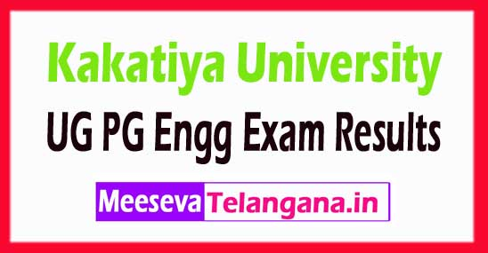 Kakatiya University KU MEd Exam Results 2018 KU UG/PG/Engg Exam Results