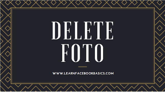 How to delete photo without deleting post on Facebook
