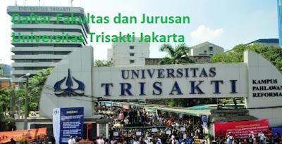 Daftar fakultas program studi jurusan sarjana magister diploma doktor Universitas Trisakti Jakarta Terbaru lengkap
