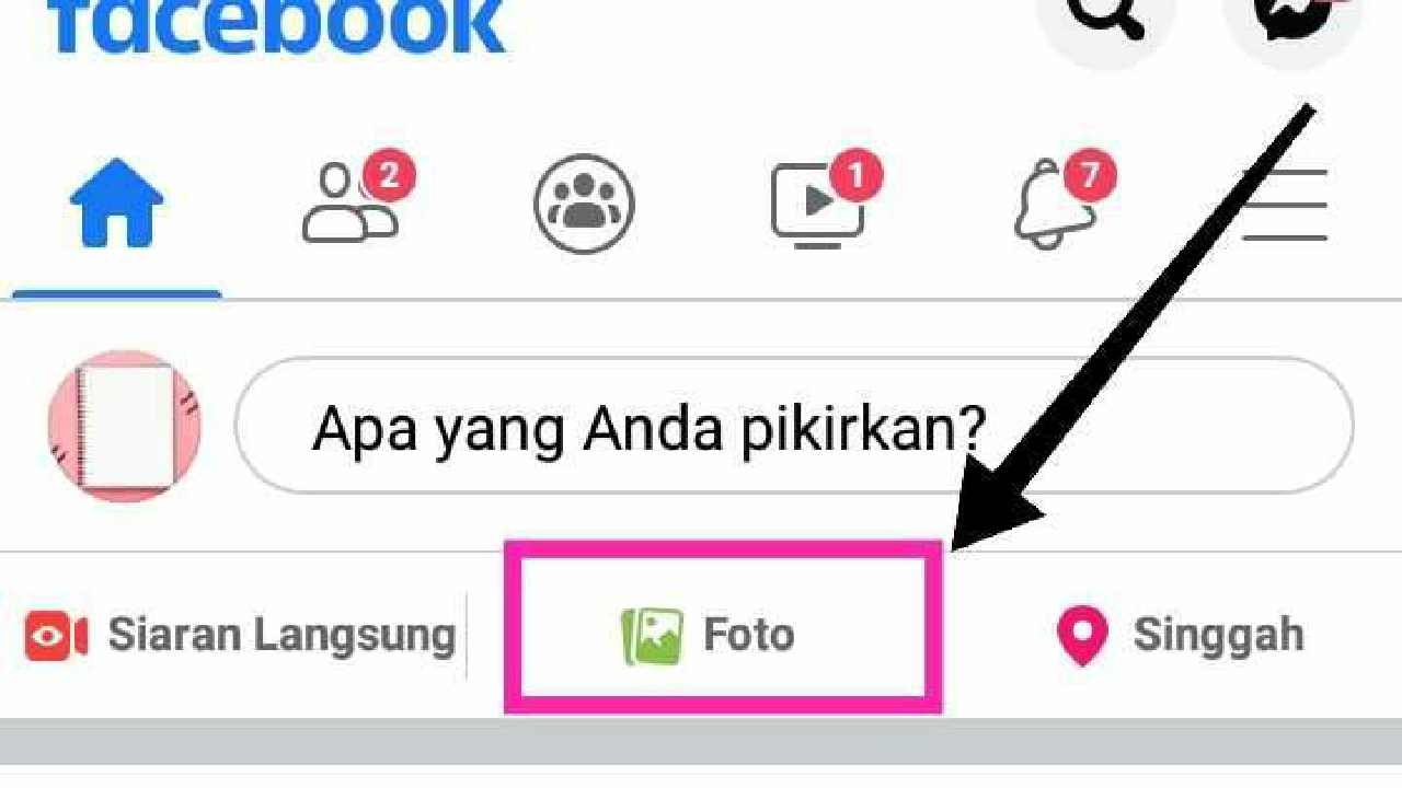 Cara membuat tulisan di foto Facebook