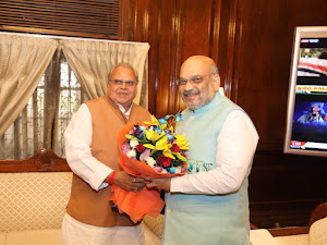 J&K Governor Satya Pal Malik, top officials attend high-level MHA meeting chaired by Amit Shah over national security