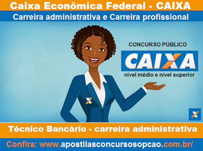 Apostila CAIXA 2016 Concurso para o cargo de TÉCNICO BANCÁRIO NOVO - CEF 2016.