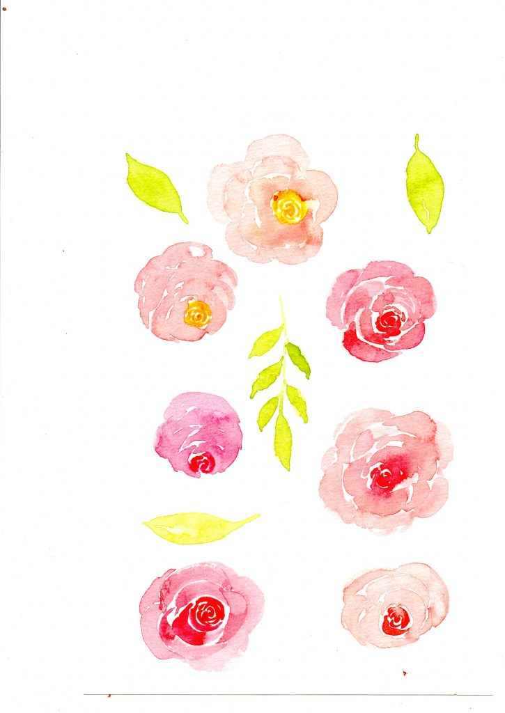 download pattern bunga watercolor