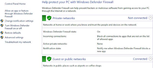 Tường lửa được tích hợp trong hệ điều hành Windows