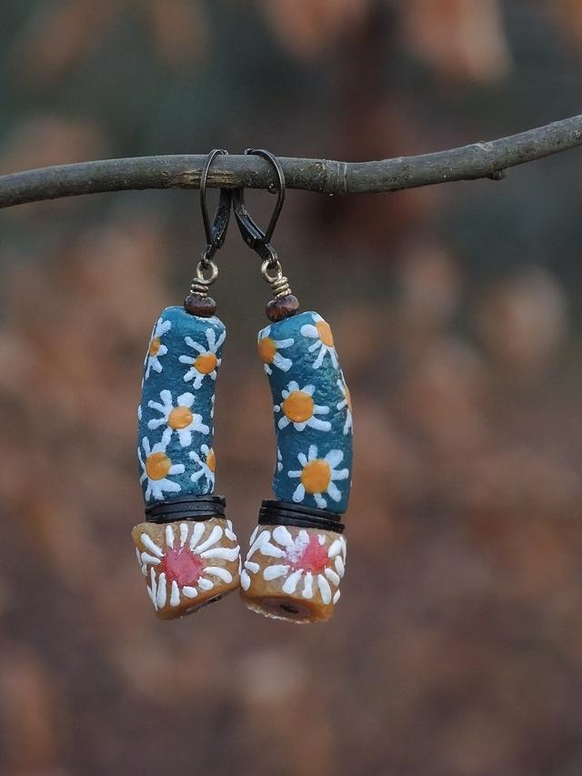 DIY oorbellen/earrings 'Iman'