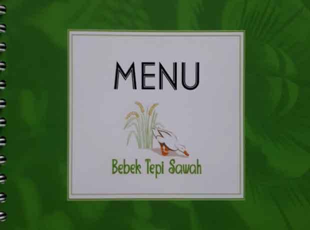 menu bebek tepi sawah pangkalpinang