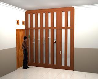Partisi Sekat Ruang Dan Pintu Multiplek HPL Kaca