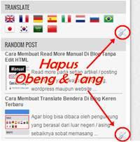 Cara Menghilangkan Obeng Dan Tang Di Blogger
