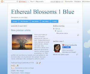 Ethereal Blossoms 1 Blue Theme