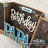 Stampin' Up! Happy Birthday Thinlits U Fold Card Order SU Stampinup Products from Mitosu Crafts UK Online Shop