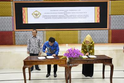Pemkab Lampung Timur Terima LHP BPK Atas Laporan Keuangan 2018