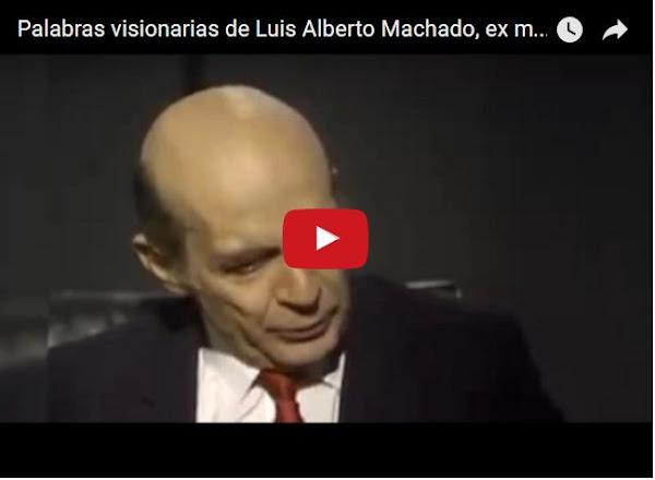 Luis Alberto Machado en las mejores declaraciones que ya escuchamos