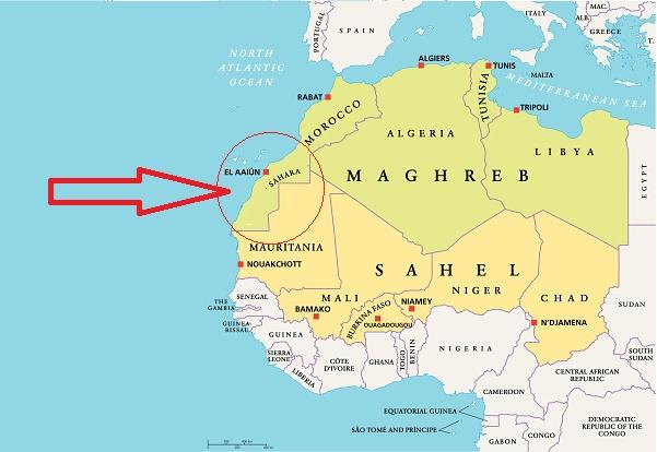 خريطة الصحراء المغربية