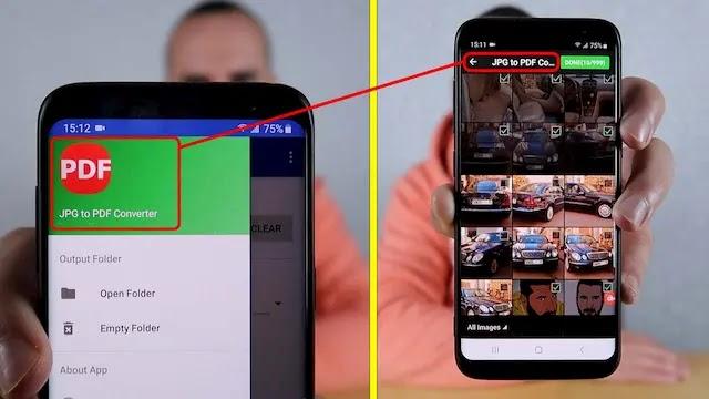 طريقة تحويل الصور إلى PDF