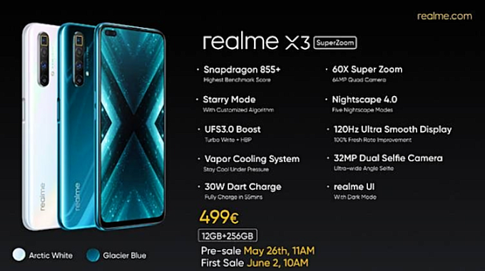 Realme X3 Specs Leaked. Is Coming With Great Specs.