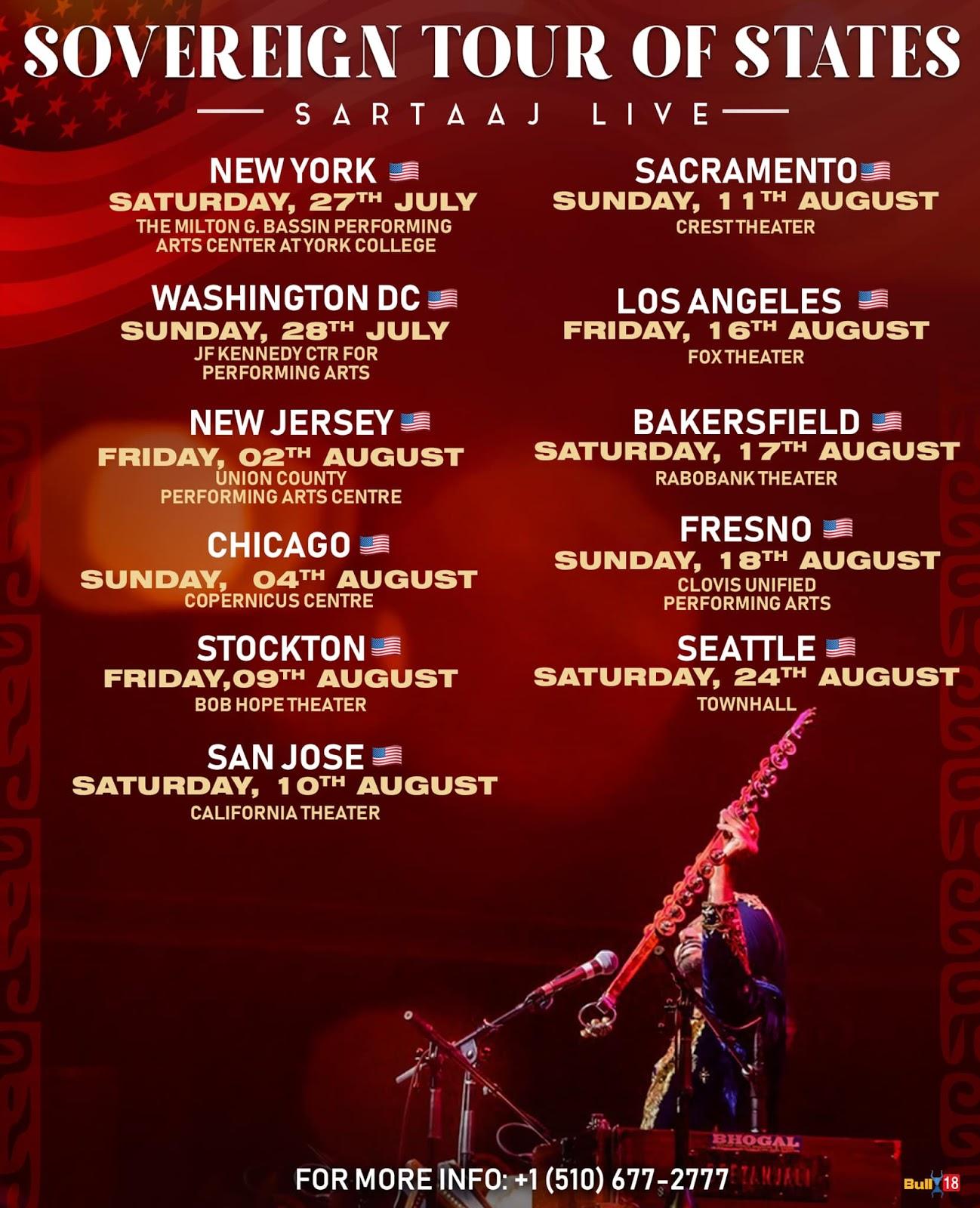 Satinder Sartaaj USA Tour 2019