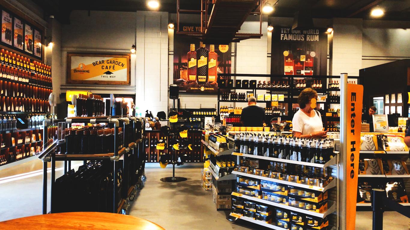 Bundaberg rum distillery's shop