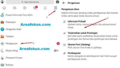 Mengganti Nomor di FB Menjadi Email