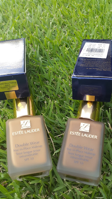 Estee Lauder Double Wear Stay-In-Place Makeup 'Toasty Toffee' and 'New Truffle' www.modenmakeup.com