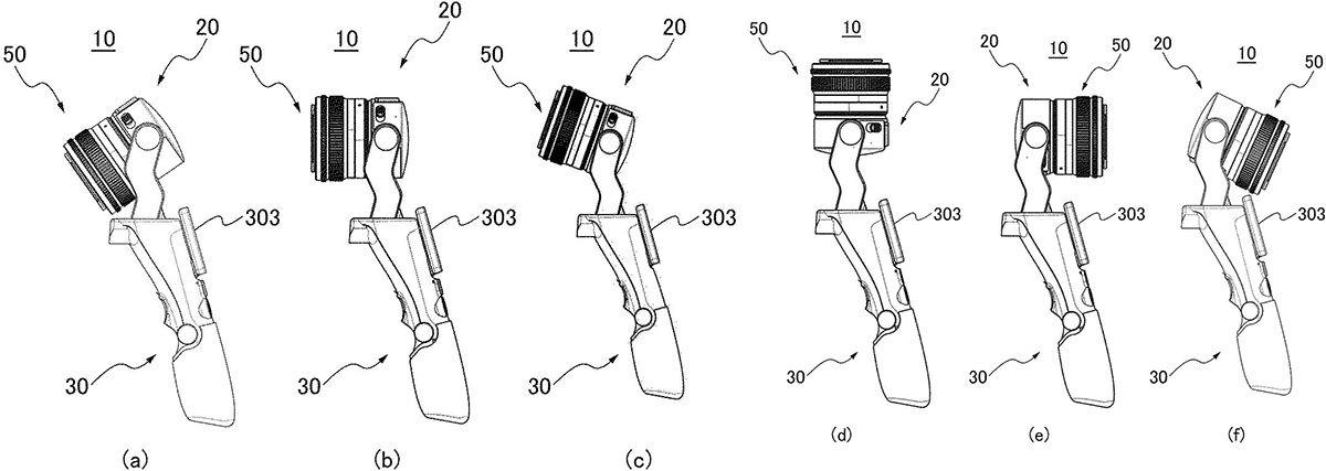 Схематичное изображение поворота головной части из патента Canon