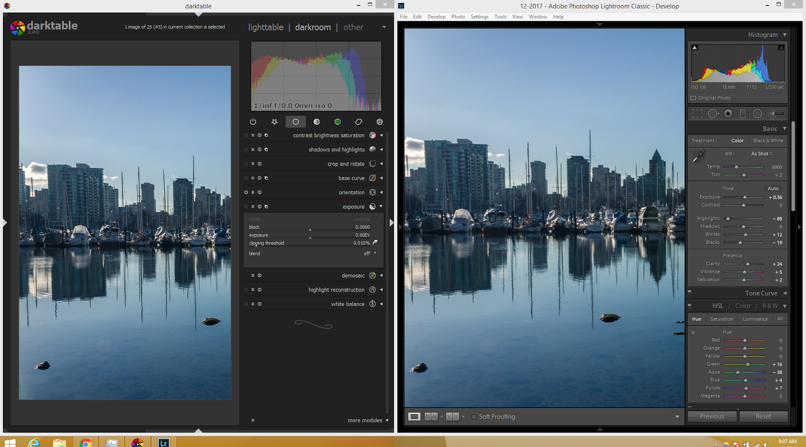 Darktable vs Lightroom Classic CC