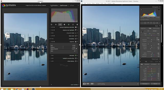 Darktable vs Adobe Lightroom Classic