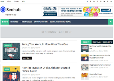 SeoHub Fast Loading Blogger Template2020
