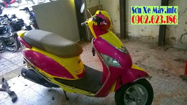 Sơn xe máy SYM Attila phối màu cực đẹp