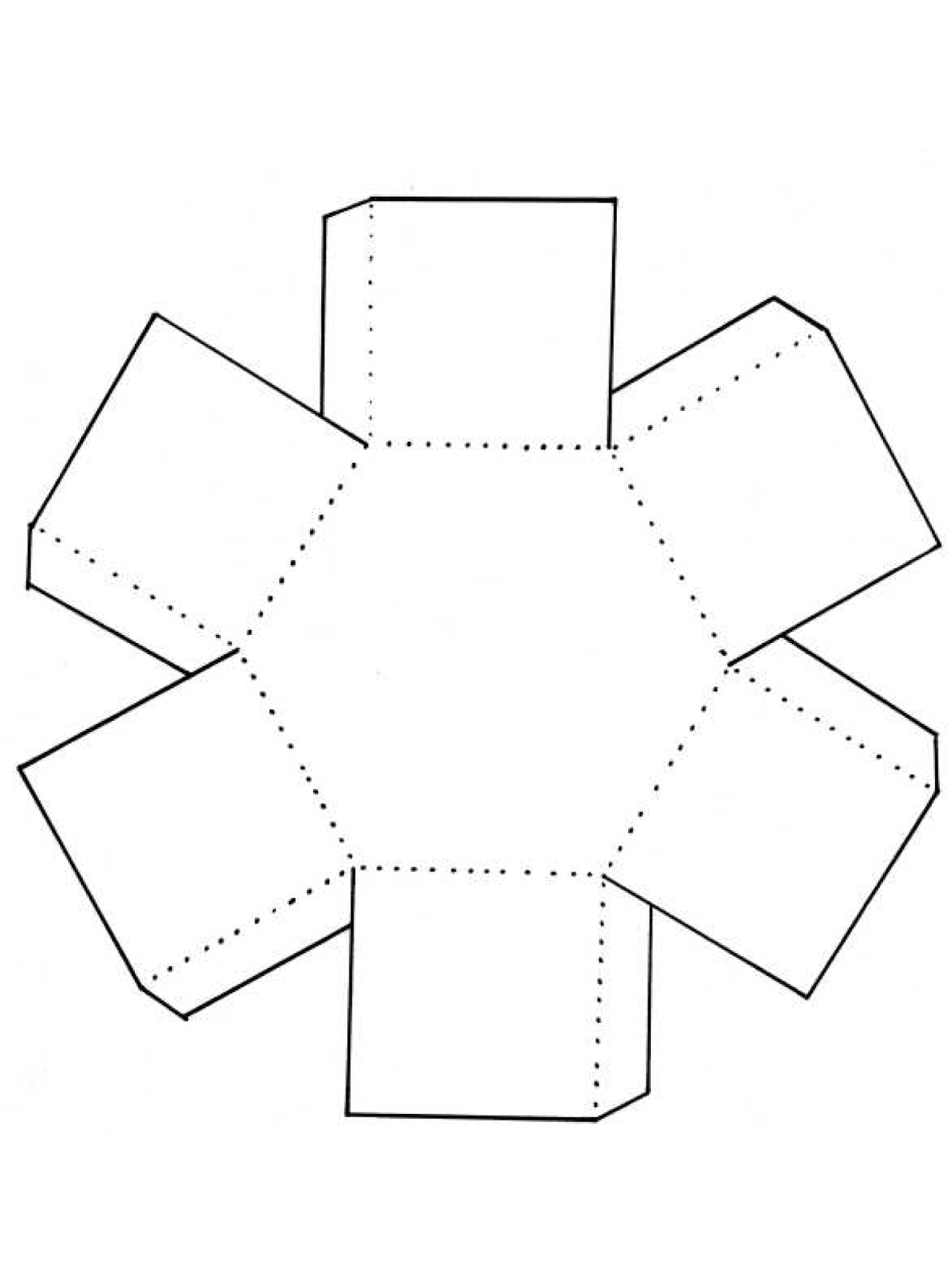 Hexagonal Boxes Template