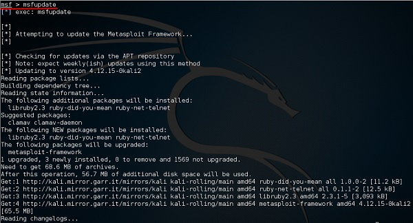 Metasploit - Kali Linux - solution rider
