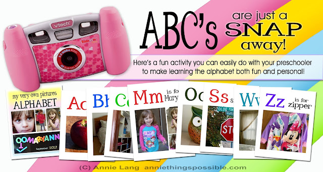 Annie Lang shares her preschool alphabet learning activity ideas using a camera and a little imagination!