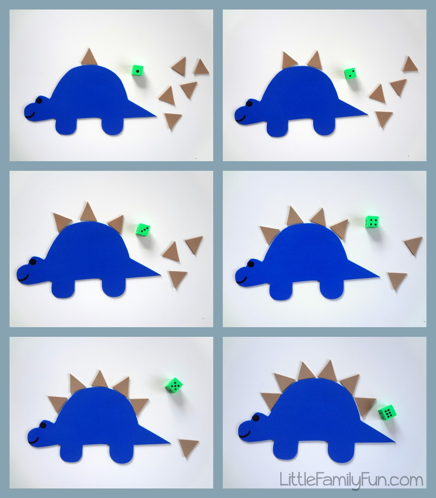 Little Family Fun Stegosaurus Counting Game